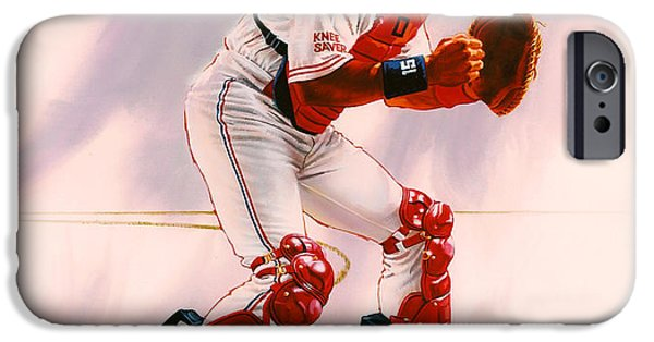 All Star iPhone Cases - Sandy Alomar iPhone Case by Dick Bobnick