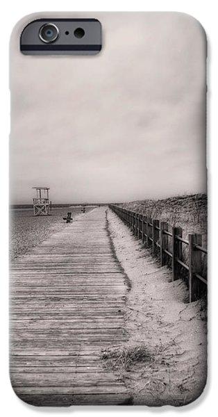 Jvitali iPhone Cases - Sandy Beach Pathway - Milford Ct. iPhone Case by Joann Vitali