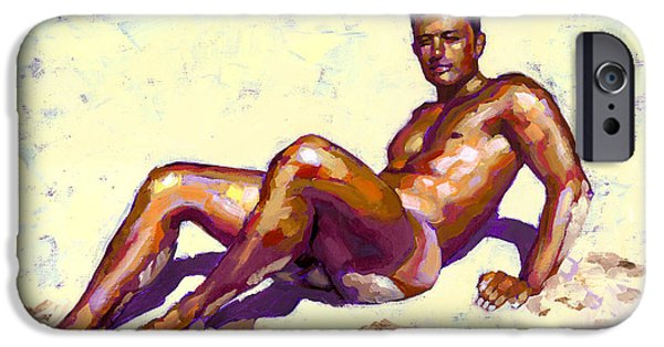 Muscle Paintings iPhone Cases - Sandy Bottom iPhone Case by Douglas Simonson