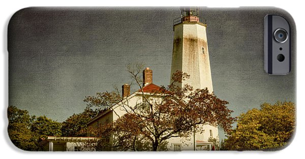 Lighthouse iPhone Cases - Sandy Hook Lighthouse iPhone Case by Joan Carroll