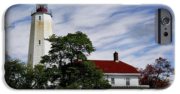 Lighthouse iPhone Cases - Sandy Hook Lighthouse Nj iPhone Case by Skip Willits