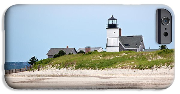 Recently Sold -  - New England Lighthouse iPhone Cases - Sandy Neck Lighthouse Barnstable Cape Cod Massachusetts iPhone Case by Michelle Wiarda