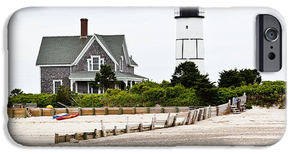 Recently Sold -  - New England Lighthouse iPhone Cases - Sandy Neck Lighthouse Cape Cod iPhone Case by Michelle Wiarda