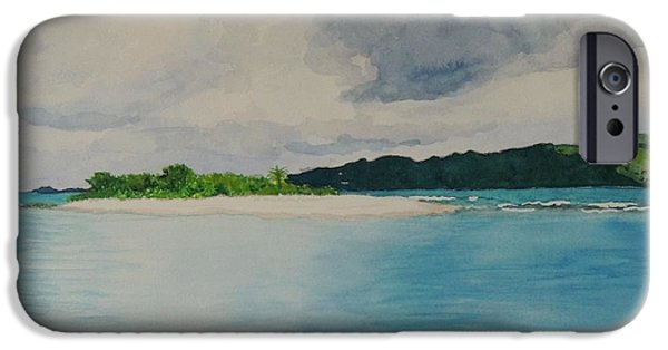 Recently Sold -  - Storm iPhone Cases - Sandy Spit Revisited iPhone Case by Connie Campbell Rosenthal