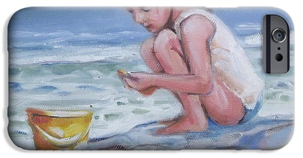 Little iPhone Cases - Sandy summer I iPhone Case by Mary Hubley