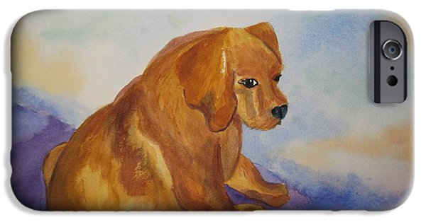 Cute Puppy iPhone Cases - Sandy with Attitude iPhone Case by Ellen Levinson