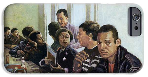 African-american Paintings iPhone Cases - Sanitised Menus iPhone Case by Colin Bootman