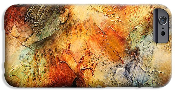 Recently Sold -  - Abstract Expressionist iPhone Cases - Sansara XVII iPhone Case by Jonas Gerard