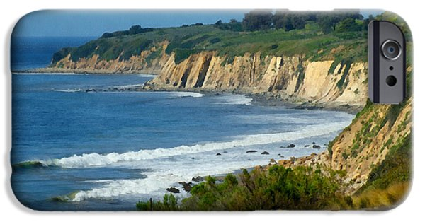 Santa Digital iPhone Cases - Santa Barbara Coast iPhone Case by Ernie Echols