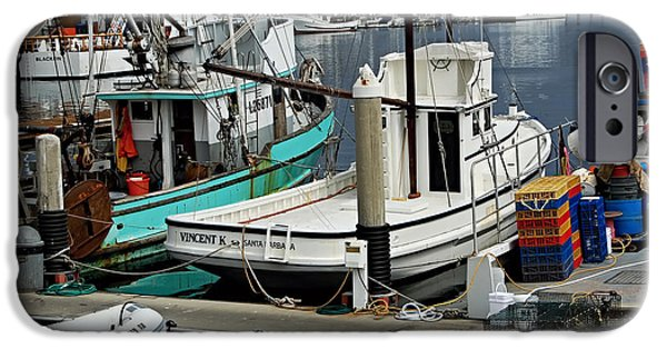 Carter Family iPhone Cases - Santa Barbara Fishing Boats iPhone Case by See My  Photos