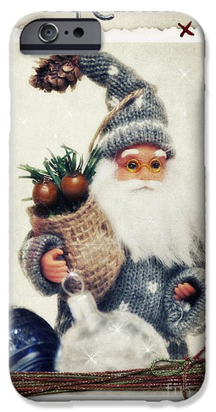 Santa Claus iPhone Case by Angela Doelling AD DESIGN Photo and PhotoArt