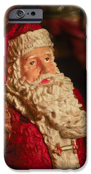Saint Nick iPhone Cases - Santa Claus - Antique Ornament - 01 iPhone Case by Jill Reger