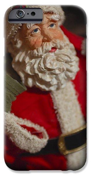 Santa Claus - Antique Ornament - 02 iPhone Case by Jill Reger