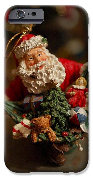 Saint Nick iPhone Cases - Santa Claus - Antique Ornament - 04 iPhone Case by Jill Reger