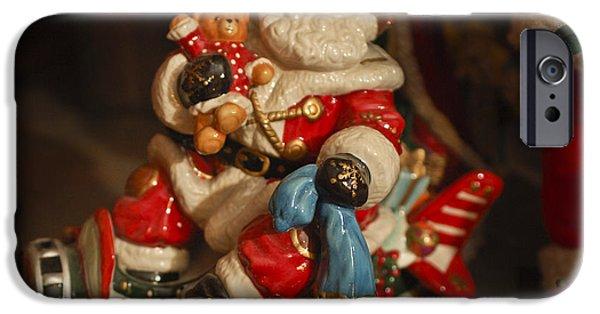 Saint Nick iPhone Cases - Santa Claus - Antique Ornament -05 iPhone Case by Jill Reger