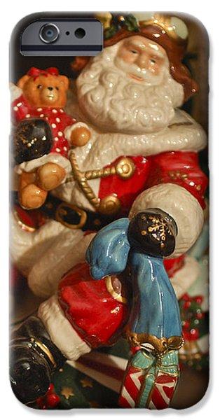 Santa Claus - Antique Ornament -05 iPhone Case by Jill Reger