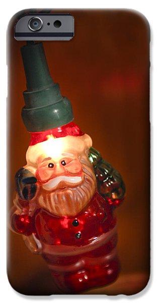 Saint Nick iPhone Cases - Santa Claus - Antique Ornament - 06 iPhone Case by Jill Reger