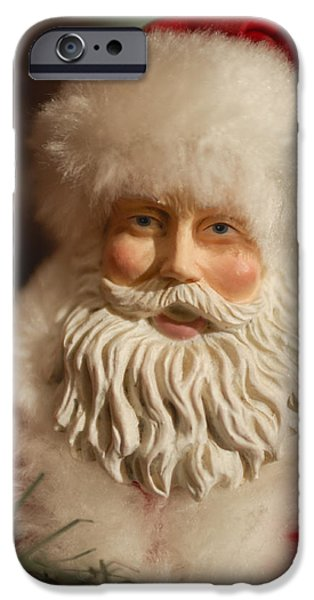 Santa Claus - Antique Ornament - 07 iPhone Case by Jill Reger