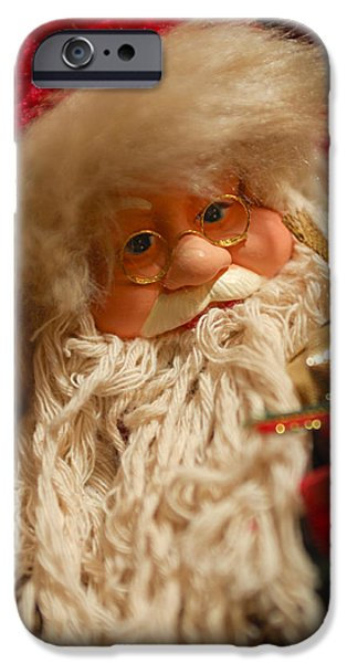 Santa Claus - Antique Ornament - 08 iPhone Case by Jill Reger
