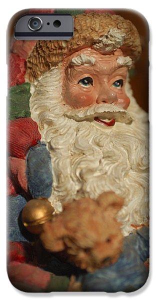 Saint Nick iPhone Cases - Santa Claus - Antique Ornament - 09 iPhone Case by Jill Reger
