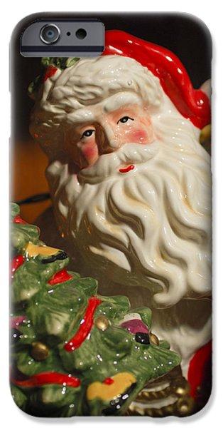 Saint Nick iPhone Cases - Santa Claus - Antique Ornament - 10 iPhone Case by Jill Reger