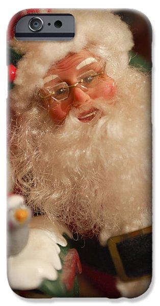 Saint Nick iPhone Cases - Santa Claus - Antique Ornament - 11 iPhone Case by Jill Reger
