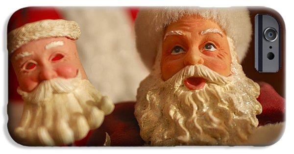 Saint Nick iPhone Cases - Santa Claus - Antique Ornament - 12 iPhone Case by Jill Reger