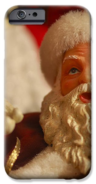 Santa Claus - Antique Ornament - 12 iPhone Case by Jill Reger