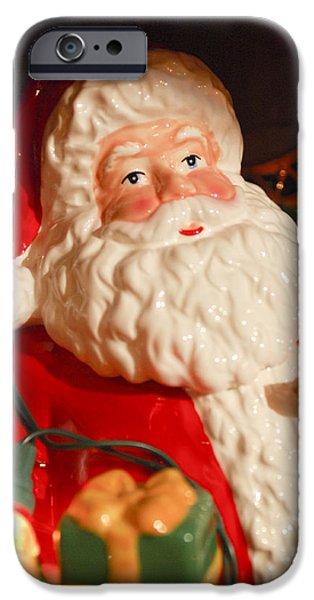 Saint Nick iPhone Cases - Santa Claus - Antique Ornament - 13 iPhone Case by Jill Reger