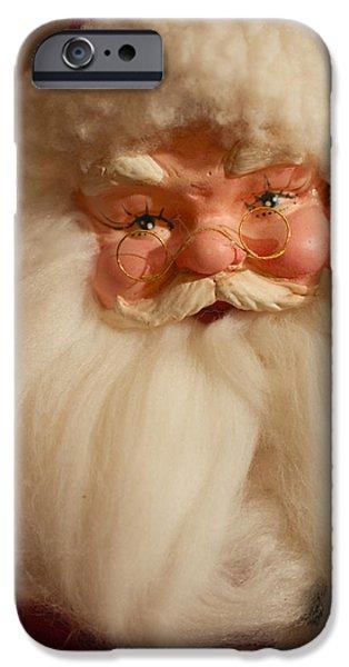 Saint Nick iPhone Cases - Santa Claus - Antique Ornament - 14 iPhone Case by Jill Reger
