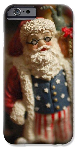 Saint Nick iPhone Cases - Santa Claus - Antique Ornament - 15 iPhone Case by Jill Reger