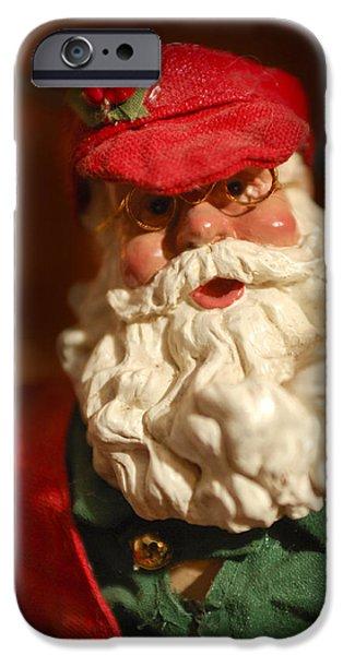 Saint Nick iPhone Cases - Santa Claus - Antique Ornament - 16 iPhone Case by Jill Reger