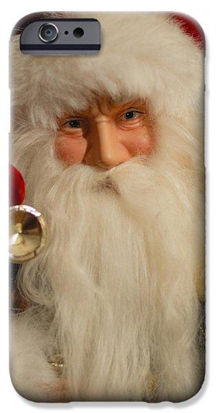 Saint Nick iPhone Cases - Santa Claus - Antique Ornament - 17 iPhone Case by Jill Reger