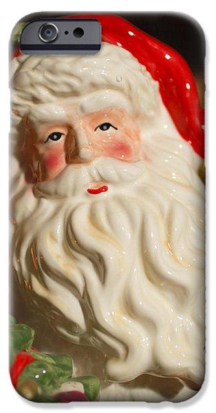 Saint Nick iPhone Cases - Santa Claus - Antique Ornament - 19 iPhone Case by Jill Reger