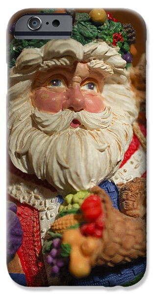 Saint Nick iPhone Cases - Santa Claus - Antique Ornament - 20 iPhone Case by Jill Reger