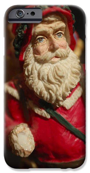 Saint Nick iPhone Cases - Santa Claus - Antique Ornament - 21 iPhone Case by Jill Reger