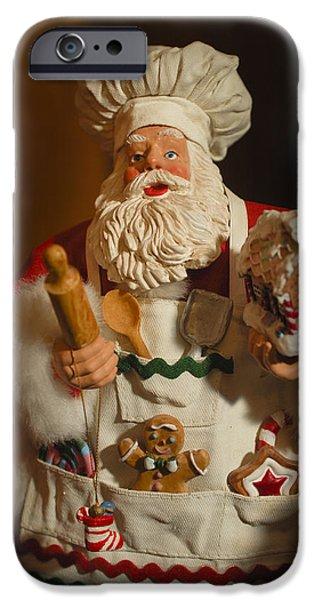 Saint Nick iPhone Cases - Santa Claus - Antique Ornament - 22 iPhone Case by Jill Reger