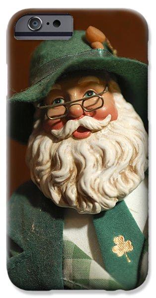 Saint Nick iPhone Cases - Santa Claus - Antique Ornament - 23 iPhone Case by Jill Reger