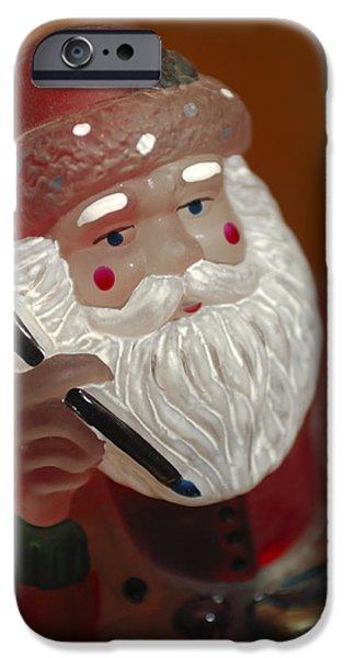 Saint Nick iPhone Cases - Santa Claus - Antique Ornament - 24 iPhone Case by Jill Reger