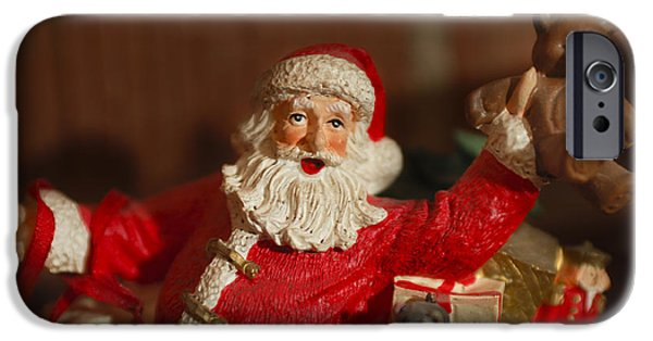Saint Nick iPhone Cases - Santa Claus - Antique Ornament - 26 iPhone Case by Jill Reger