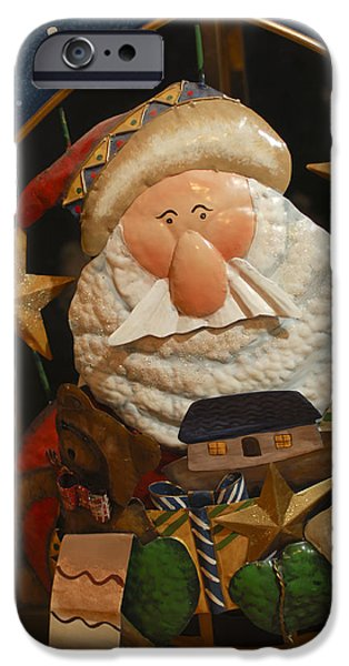 Saint Nick iPhone Cases - Santa Claus - Antique Ornament - 27 iPhone Case by Jill Reger