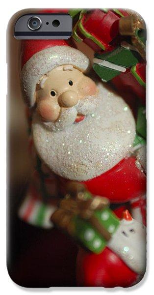 Saint Nick iPhone Cases - Santa Claus - Antique Ornament - 28 iPhone Case by Jill Reger