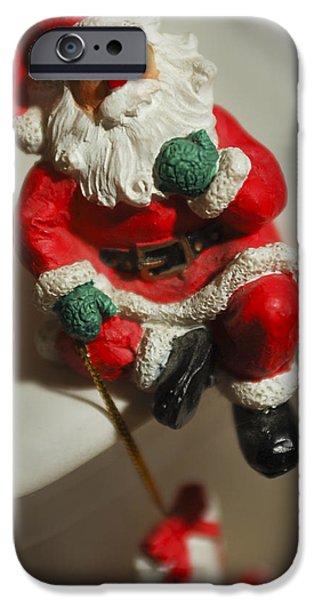 Saint Nick iPhone Cases - Santa Claus - Antique Ornament - 35 iPhone Case by Jill Reger