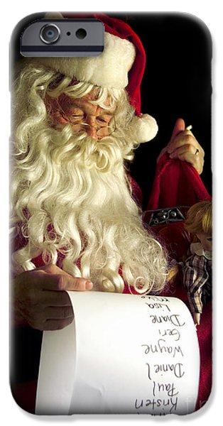 Santa iPhone Cases - Santa Claus iPhone Case by Diane Diederich