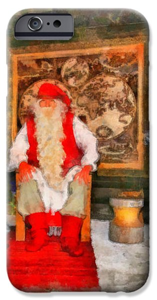 Santa Claus iPhone Case by George Rossidis