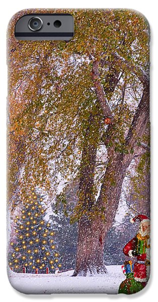 Santa Claus In the Snow iPhone Case by James BO  Insogna