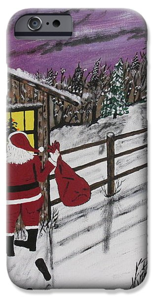 Santa Claus Is Watching iPhone Case by Jeffrey Koss