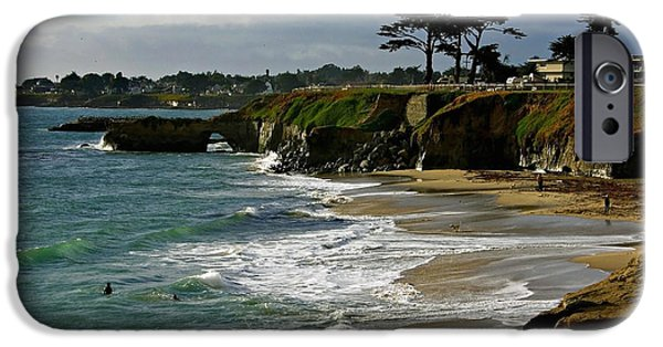 Santa Cruz iPhone Cases - Santa Cruz Beach iPhone Case by Carol Groenen