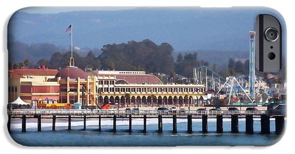 Santa Cruz Pier iPhone Cases - Santa Cruz Boardwalk iPhone Case by Art Block Collections