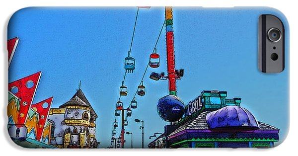 Santa Cruz iPhone Cases - Santa Cruz Boardwalk iPhone Case by Lisa McKinney